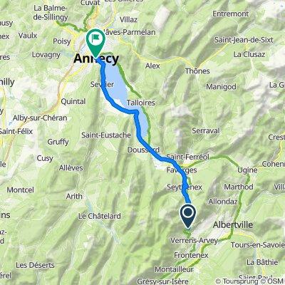 De D201c, Plancherine à Quai Eustache Chappuis, Annecy