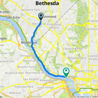 Capital Crescent Trail, Bethesda to 3458–3494 Water St NW, Washington