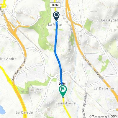 De 136A Avenue de la Viste, Marseille à 45 Avenue de Saint-Louis, Marseille