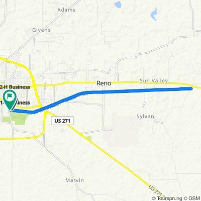 Route to 1405 S Collegiate Dr, Paris