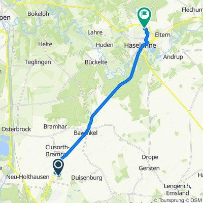 Dollhoffstraße 21, Lingen (Ems) nach Auf dem Höwel 16, Haselünne
