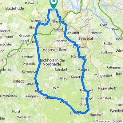 2020-08-01 - Neuwiedenthal - Mienenbüttel - Handeloh - Undeloh - Hanstedt- Marmstorf - Rosengarten