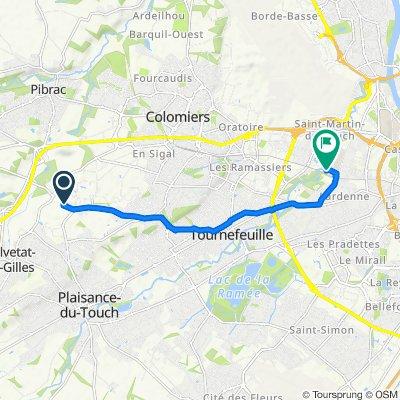 Itinéraire à partir de 17 Rue des Chênes, Plaisance-du-Touch