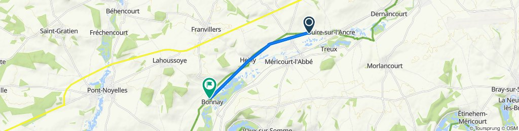 Route from D52, Ribemont-sur-Ancre