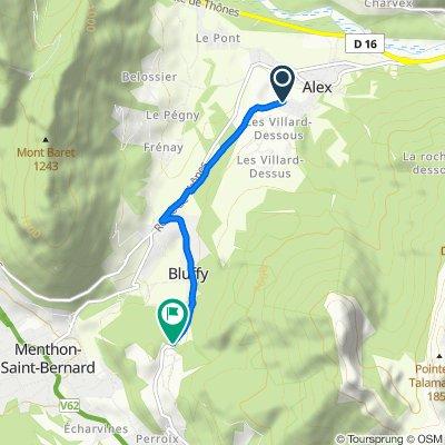 586–776 Route de Menthon, Alex to Route des Dents de Lanfon, Bluffy