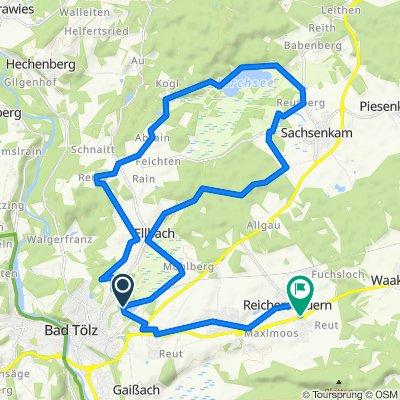 MTB-Kleine Tölzer Kirchsee-Runde-23km ab Reichersbeuern