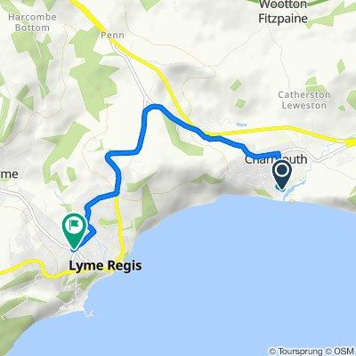 Little Frien, River Way, Bridport to Woodville, Silver Street, Lyme Regis