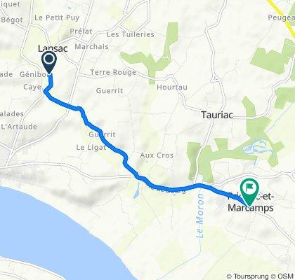 De 33 Sarailley, Lansac à 65 Avenue des Côtes de Bourg, Prignac-et-Marcamps