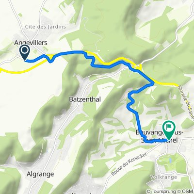 De D14d, Angevillers à Route de Volkrange, Thionville