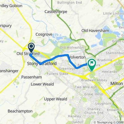 25 Oxfield Park Drive, Milton Keynes to 3 Kenchester, Milton Keynes