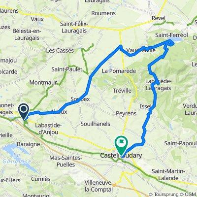 De 480 Chemin de Pierre-Paul Riquet, Montferrand à 33 Cours de la République, Castelnaudary
