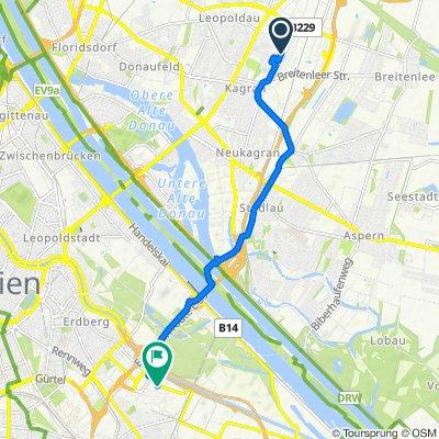 Markomannenstraße 29, Wien nach Paragonstraße 2, Wien