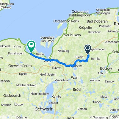Route nach Wohlenberger Wiek 4, Hohenkirchen