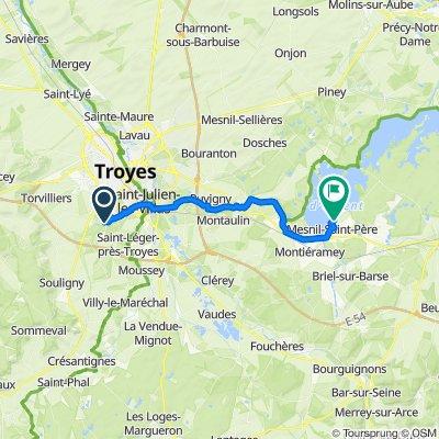 De 23 Rue Adrien Ninet, Rosières-près-Troyes à 10–14 Rue du Lac, Mesnil-Saint-Père