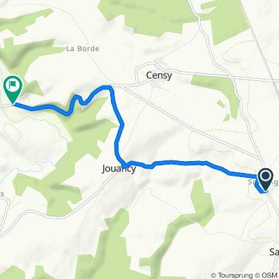 De Rue des Fosses, Sarry à Route de Montbard, Noyers