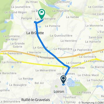 De 5 Rue de l'Étang, Loiron à La Martinière, La Brûlatte