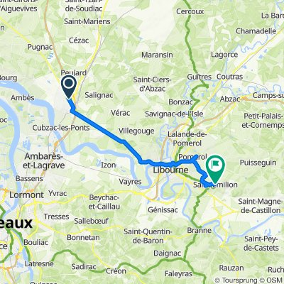 De Avenue Boucicaut, Saint-André-de-Cubzac à 564 Rue Guadet, Saint-Émilion