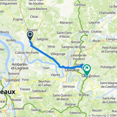 De Avenue Boucicaut, Saint-André-de-Cubzac à 1170 Mazerat-Ouest, Saint-Émilion