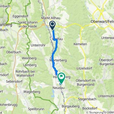Route von Gewerbepark 7, Wolfau