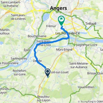 De Mozé-sur-Louet à Chemin des 3 paroisses, Angers