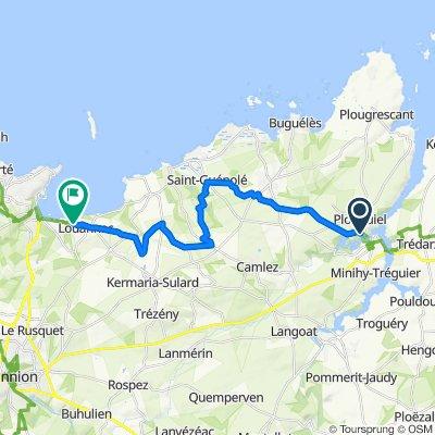 De 11 Route du Vieux Couvent, Plouguiel à 38 Route de Perros, Louannec