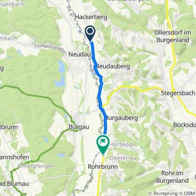 Route nach Obere Hauptstraße 42, Deutsch Kaltenbrunn