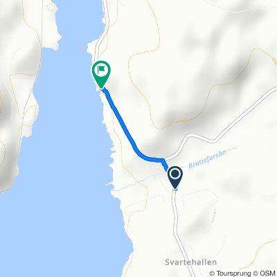 Route from Norra Sågen, Stenungsund
