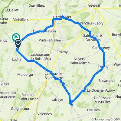 De Rue de l'Épine 11, Auchy-la-Montagne à Rue Yves Maréchal 34, Auchy-la-Montagne