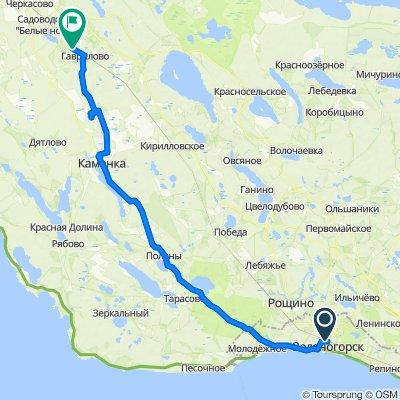 От г. Зеленогорск (Вокзал), Санкт-Петербург до Unnamed Road