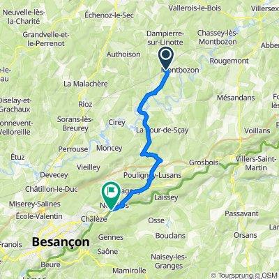 De Chemin de la Ramasse, Fontenois-lès-Montbozon à Chemin de Halage, Roche-lez-Beaupré