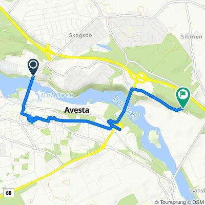 Kyrkogatan, Avesta to Friluftsvägen, Avesta
