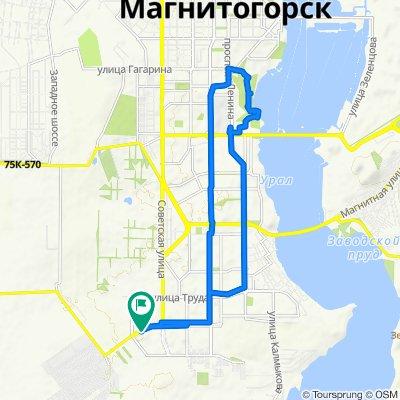 От улица 50 Лет Магнитки 63А, Магнитогорск до улица 50 Лет Магнитки 63А, Магнитогорск