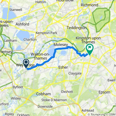 36 Pine Grove, Weybridge to 5 Croylands Drive, Surbiton