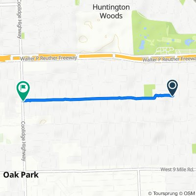 Route to Coolidge Highway 24200, Oak Park