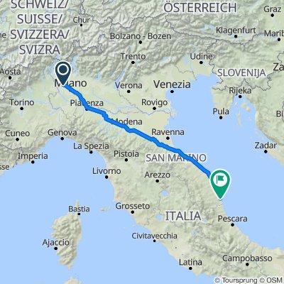 Da Via San Francesco 28, Pogliano Milanese a Via Adriatica Nord 118, Cupra Marittima