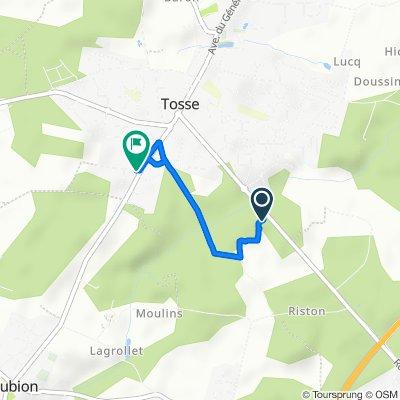 De 1301 Route Départementale 112, Saubion à 2–4B Rue de la Lande, Tosse