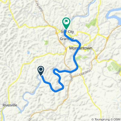 Caperton Trail, Fairmont to Caperton Trail, Star City