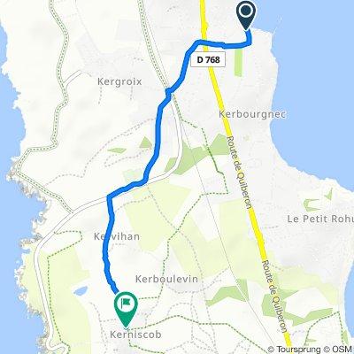 De 2–68 Rue Général de Gaulle, Saint-Pierre-Quiberon à 13 Rue de Kerniscob, Quiberon