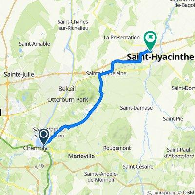 De 12 Ch Richelieu, Saint-Mathias-sur-Richelieu à 1250 Rue Daniel-Johnson O, Saint-Hyacinthe