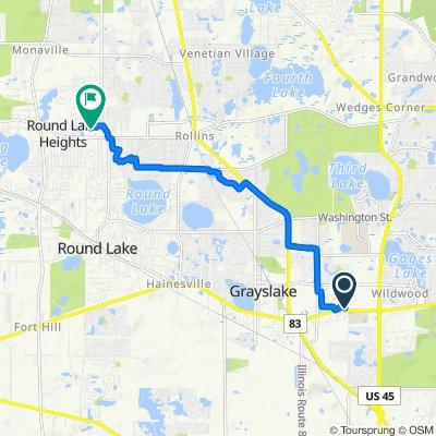 1170 E Belvidere Rd, Grayslake to 517 Meadow Green Ln, Round Lake Beach
