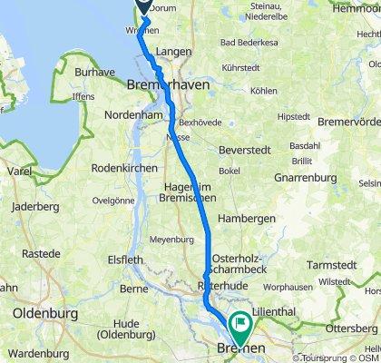 Vierhausen 2, Wurster Nordseeküste nach Domshof 8, Bremen