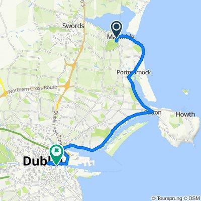 Malahide Castle to Dublin Centre