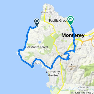 Route to 299 Cannery Row, Monterey