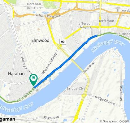 31 Pecan Ave, Harahan to 25 Bailey St, Harahan