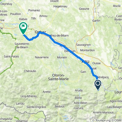 De 21 Chemin d'Arriuthouet, Asson à D30, Salies-de-Béarn