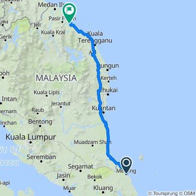 Route to Jalan Haji Tengku Chik, Kampung Raja