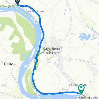 De D60, Germigny-des-Prés à 6 Chemin des Ripenaux, Saint-Benoît-sur-Loire