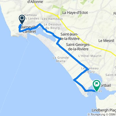 Itinéraire vers Le Port, Portbail