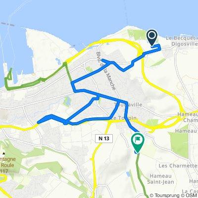 De Rue des Algues 356, Cherbourg-en-Cotentin à Chemin de la Chainaie 557, Tourlaville