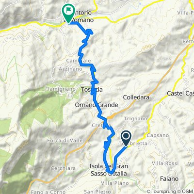 Da SP491, Isola del Gran Sasso d'Italia a Viale Settembrini 8, Montorio al Vomano